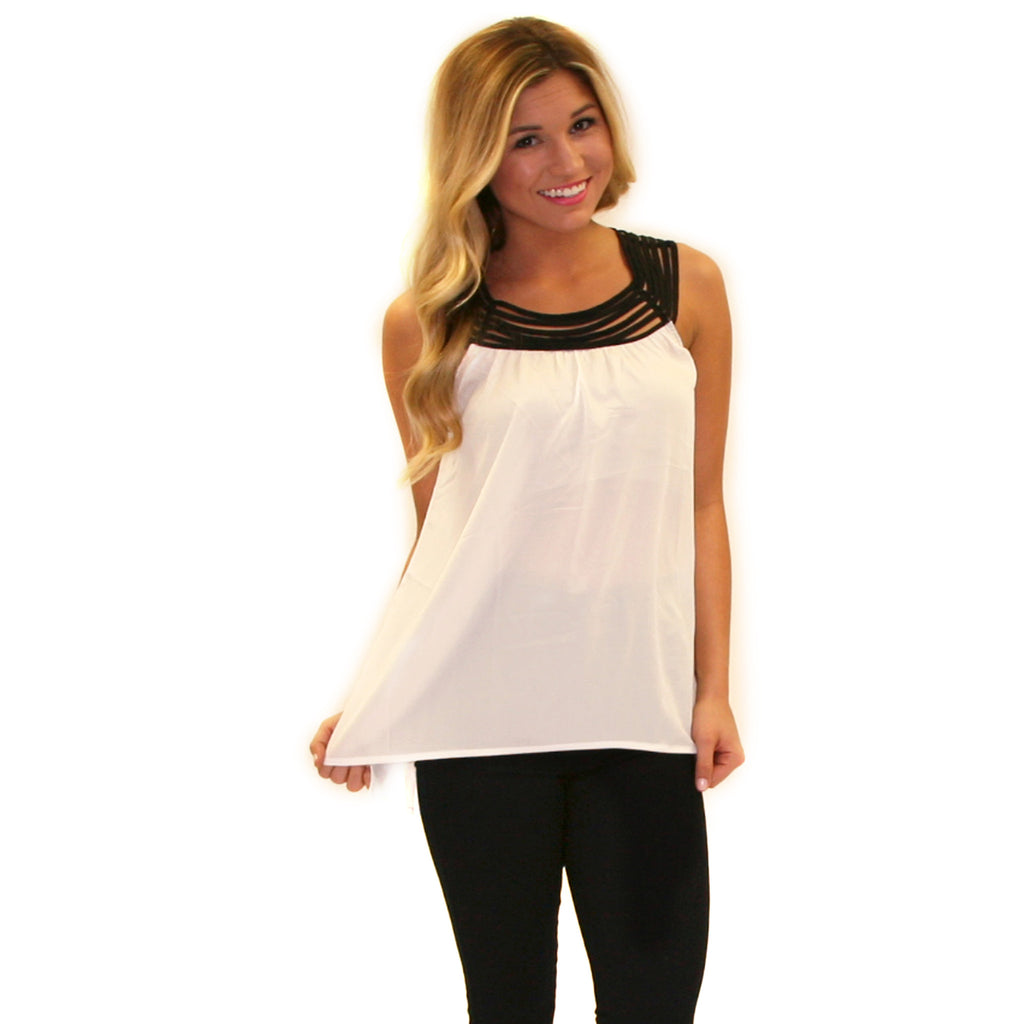 Pretty Little Tank in Ivory