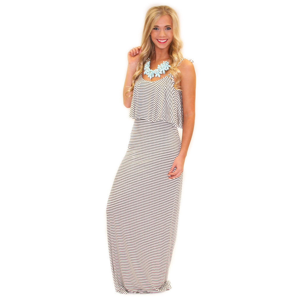 Christmas eve dress - Pretty Little Thing Maxi Ivory Impressions Online Women S Clothing