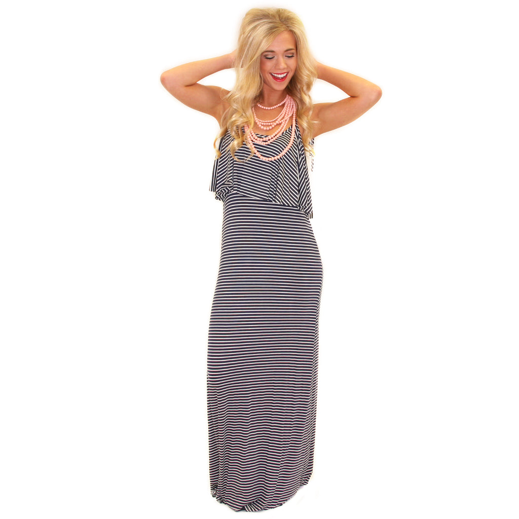 Pretty Little Thing Maxi Navy