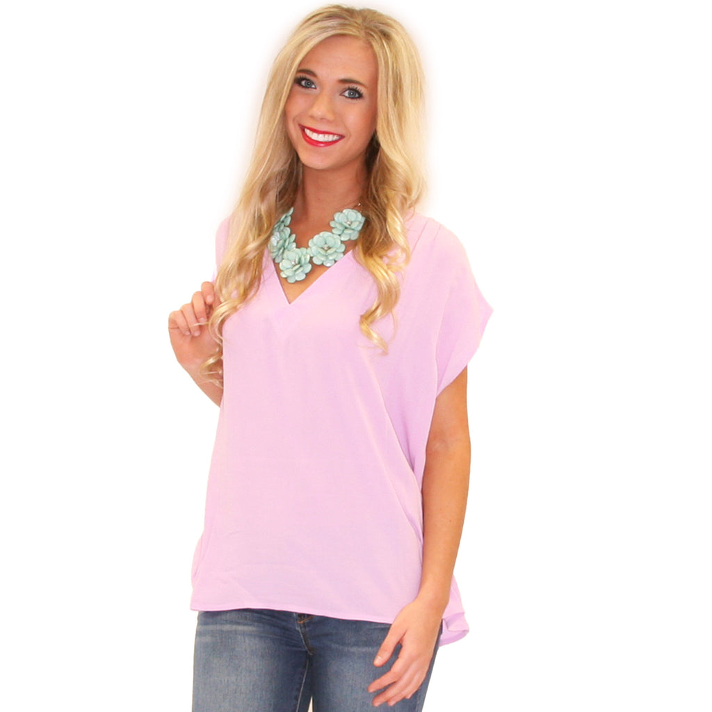 Pretty Little V-Neck Lavender