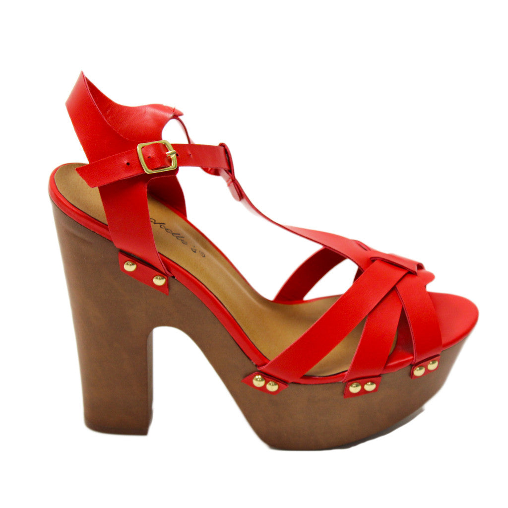 Girl's Trip Heel in Red