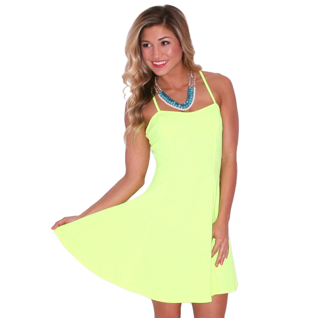 Retail Therapy Mini in Neon Yellow