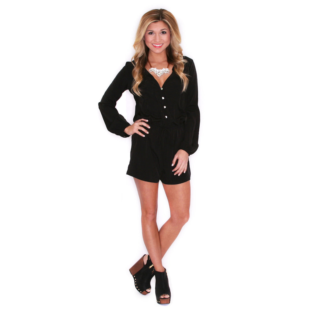 Light Up The Room Romper Black