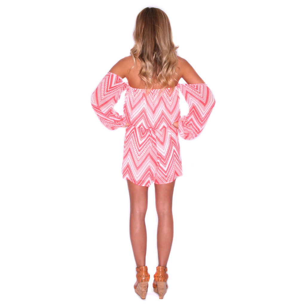 Pretty Little Thing Romper in Coral