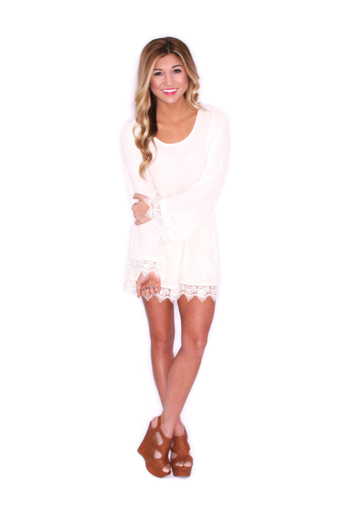 Girl Of Your Dreams Romper in Ivory