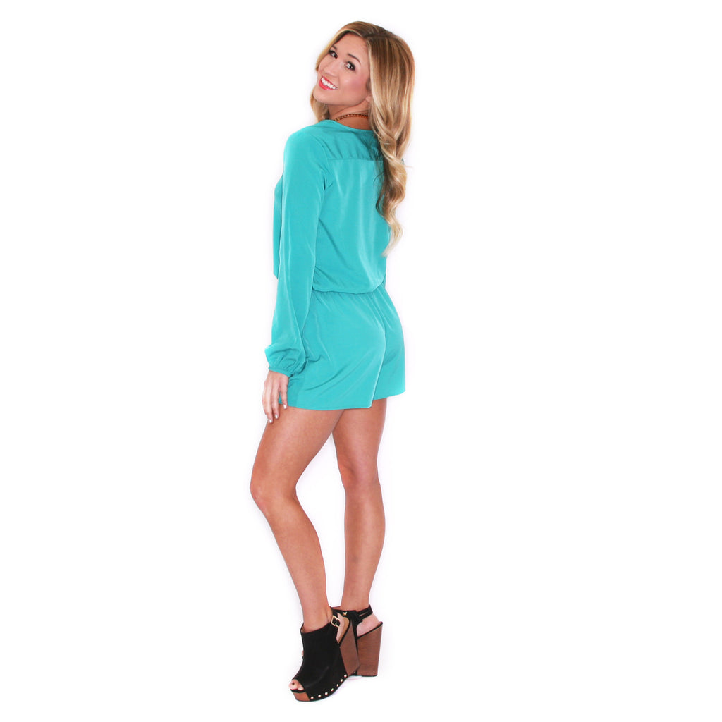 Light Up The Room Romper Jade