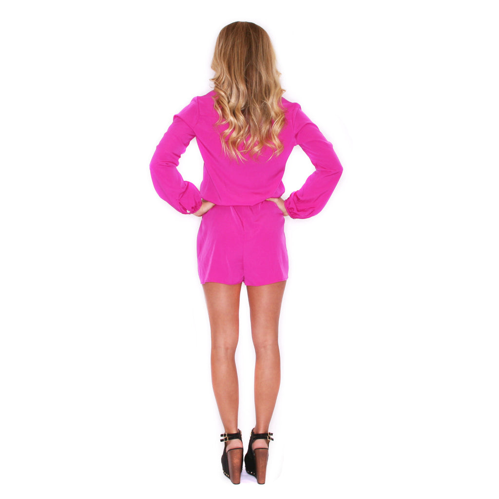 Light Up The Room Romper Magenta