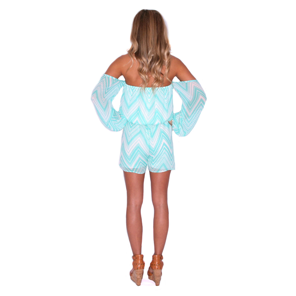 Pretty Little Thing Romper in Mint