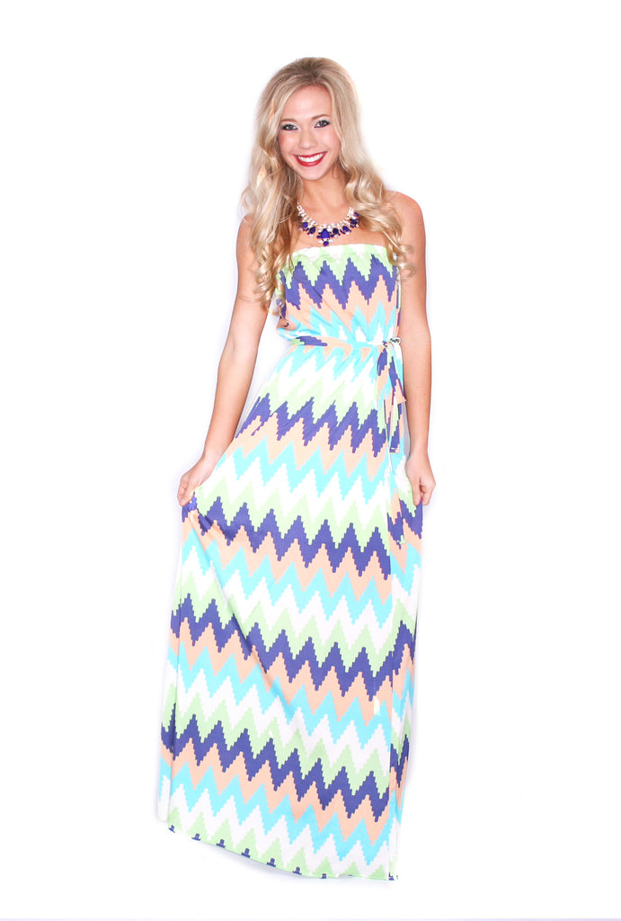 Runway Stripe Maxi in Orange