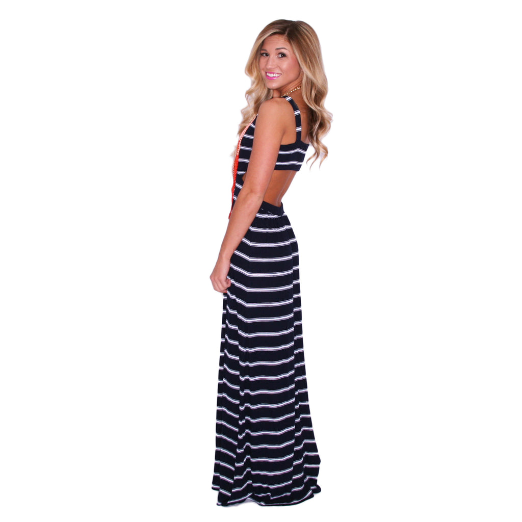 Sailor Crushing Maxi in Navy