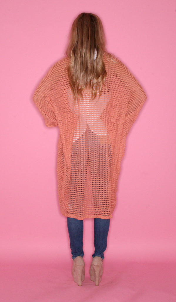Fall Days Cardi Salmon