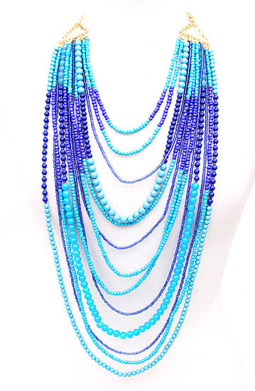 Salty Kisses Necklace in Blue