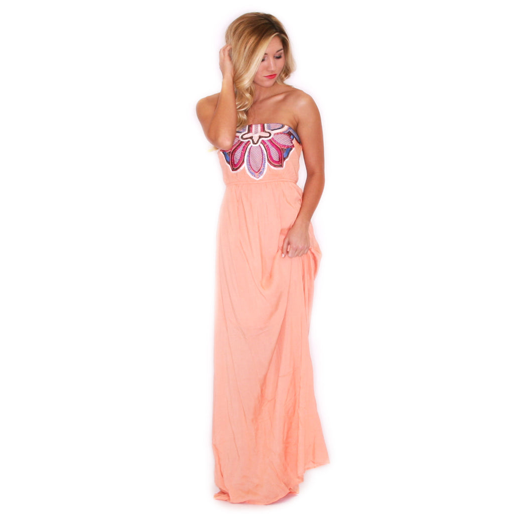 Salty Kisses Maxi Peach