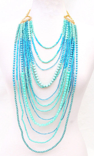 Salty Kisses Necklace in Turquoise