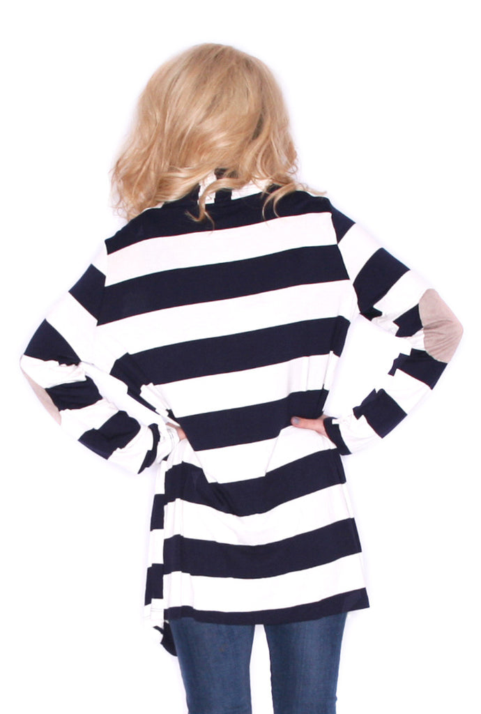 Saturday Stripes Cardi Navy