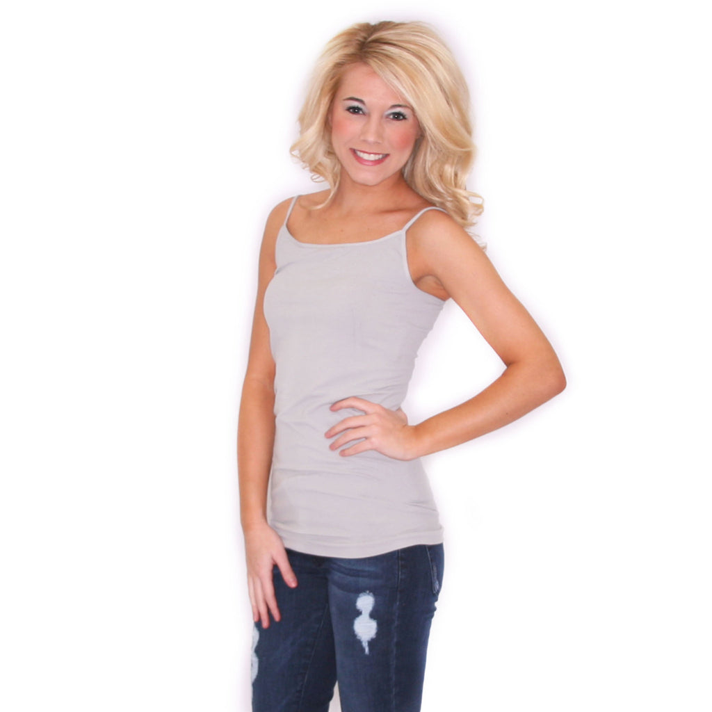 Seamless Cami Metal Grey
