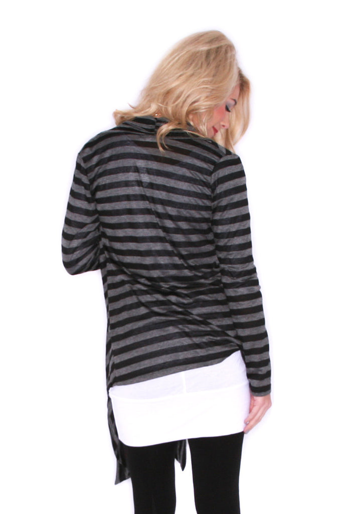 Seeing Stripes Charcoal/Black
