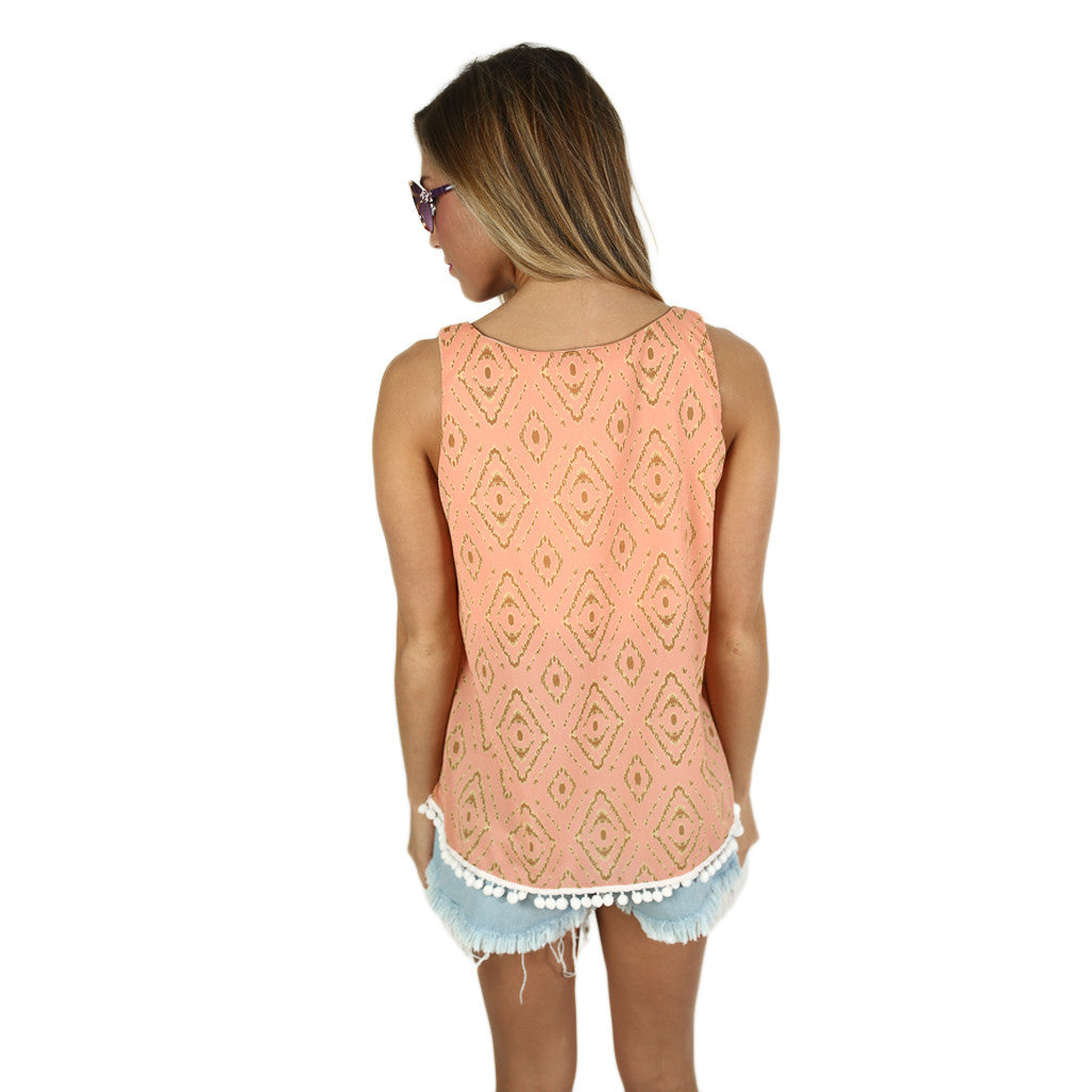 Shake It Tank in Peach