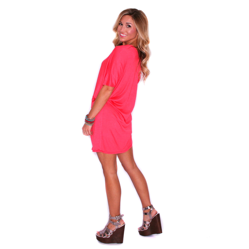 My Perfect T-Shirt Dress in Coral