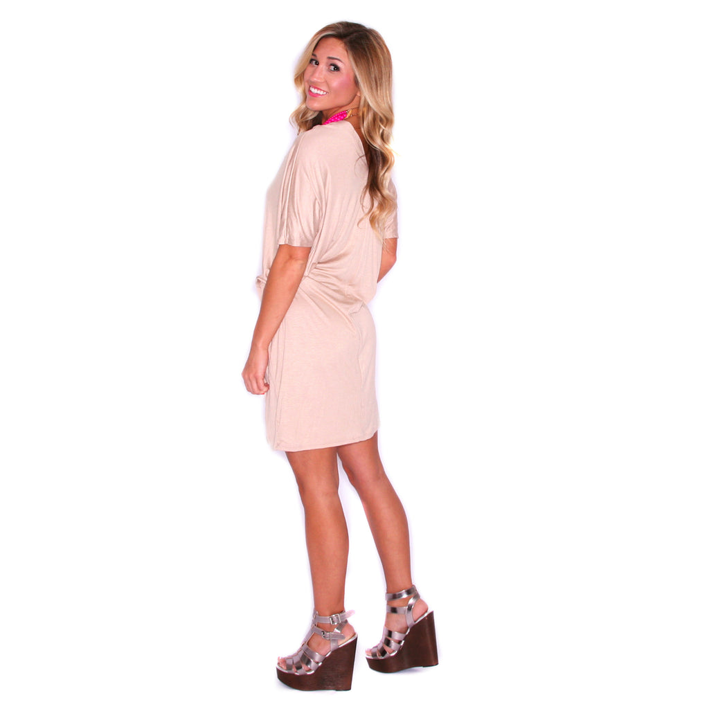 My Perfect T-Shirt Dress in Taupe