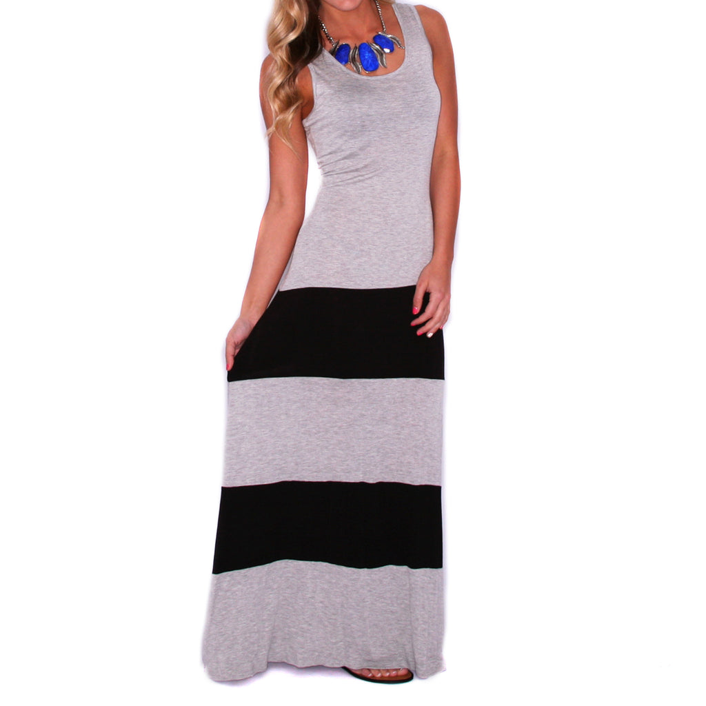 Made to Sizzle Maxi Heather Grey