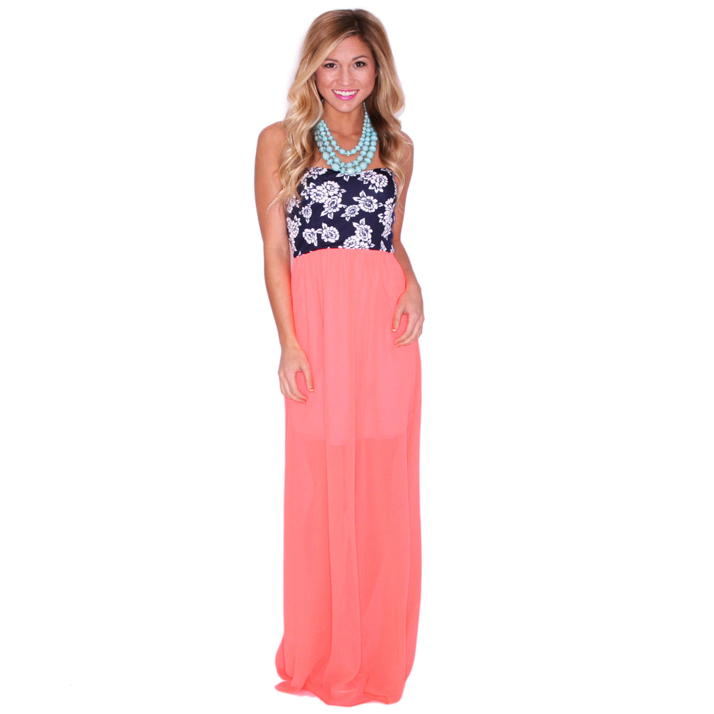 Sleepless In The City Maxi in Neon Coral