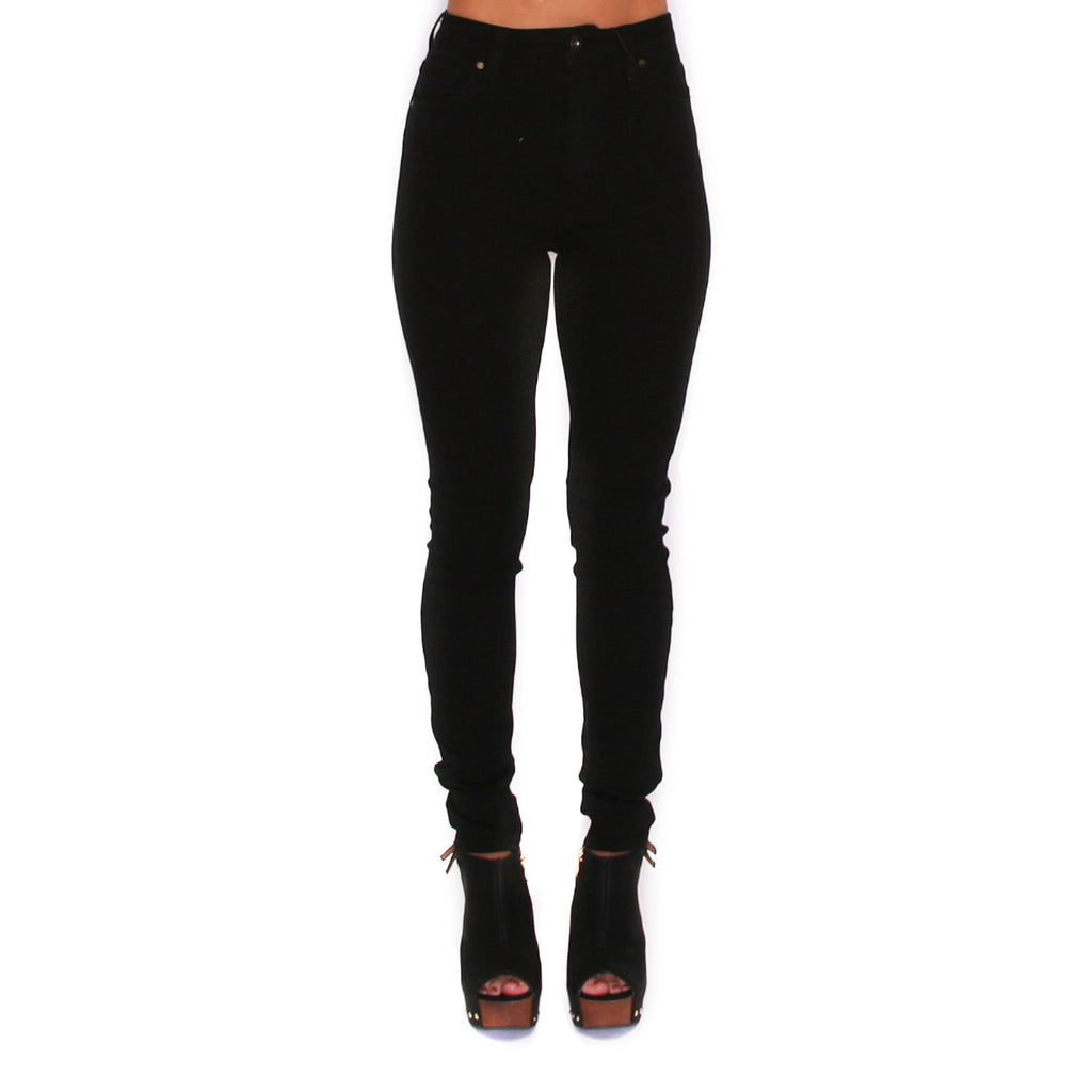 Slimming High Rise Skinny Black