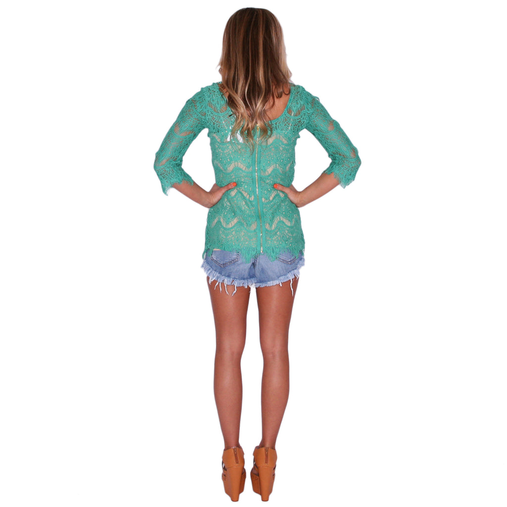 Small Talk Tunic in Jade