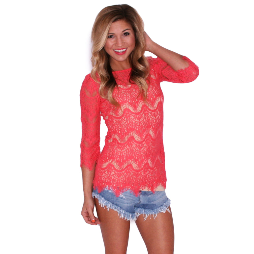 Small Talk Tunic in Coral