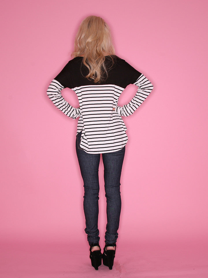 Smitten In Stripes Black