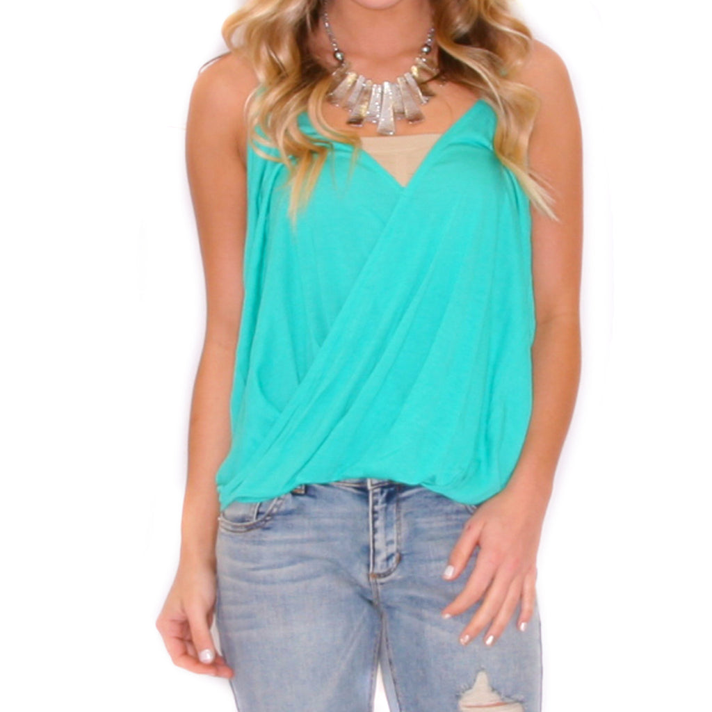 Smitten Tank Nautical Green