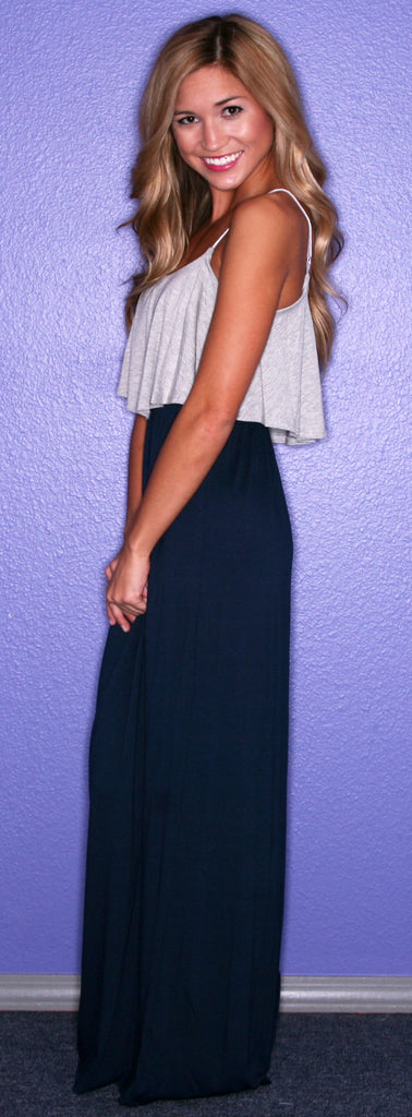 The Social Network Maxi in Gray and Navy