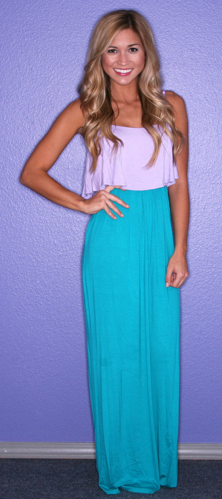 The Social Network Maxi in Lilac and Jade