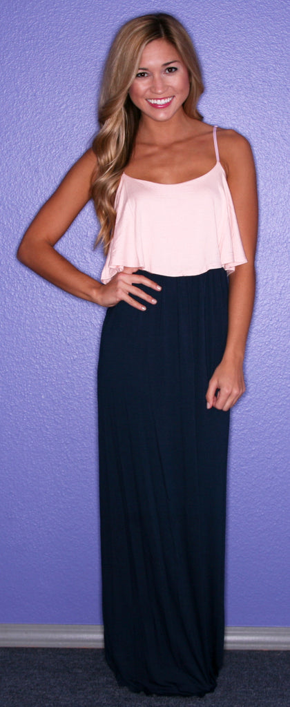 The Social Network Maxi in Pink and Navy