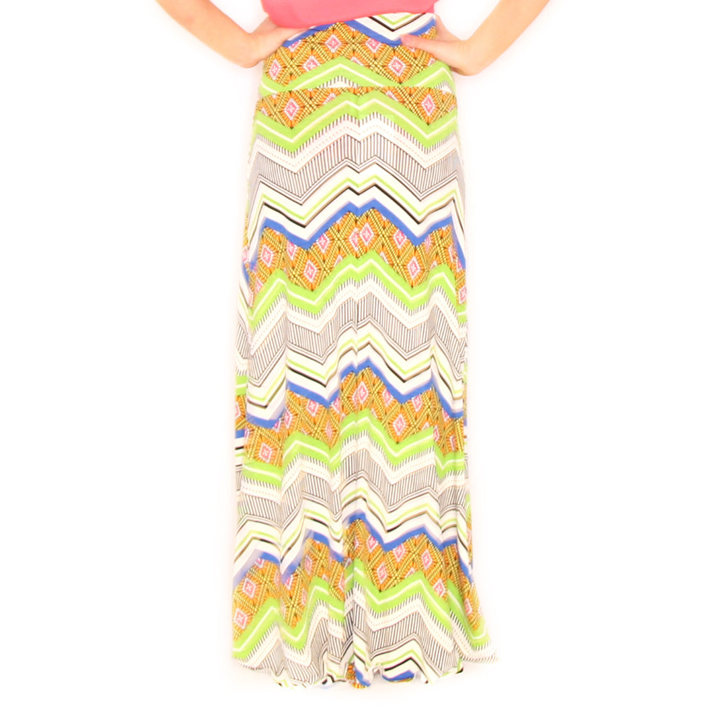 Soho Stripes Skirt in Lime