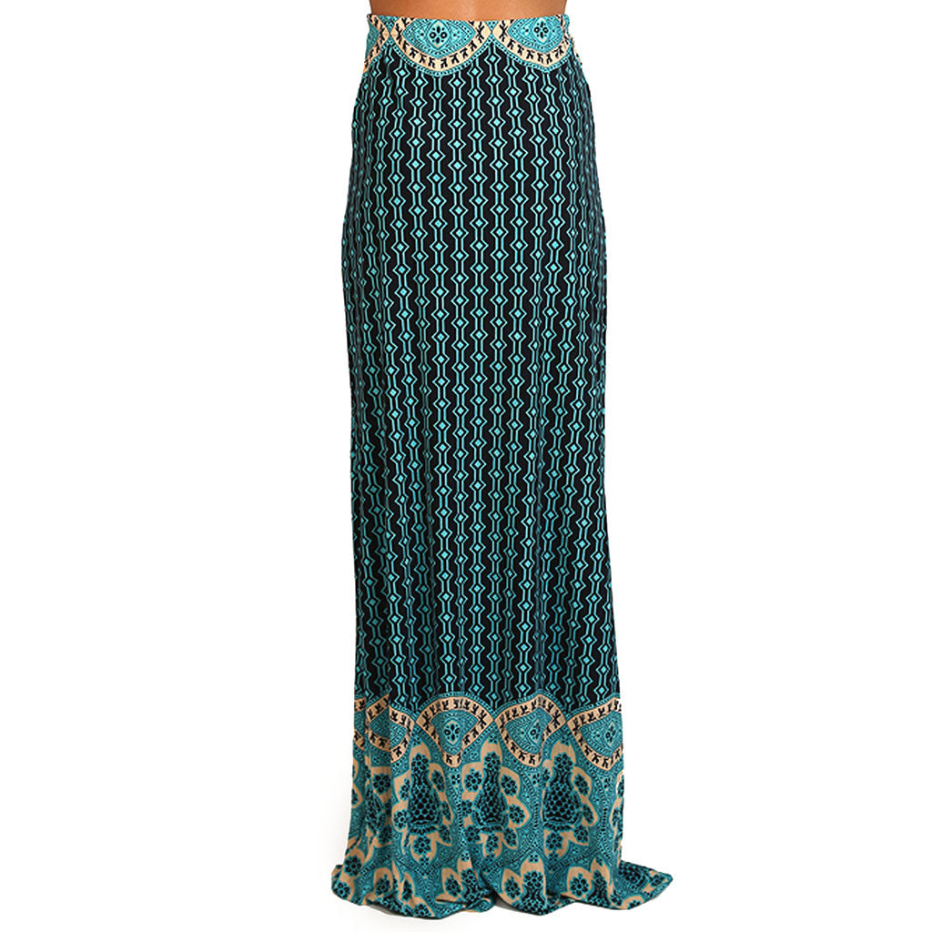 So Smitten Maxi Skirt in Navy
