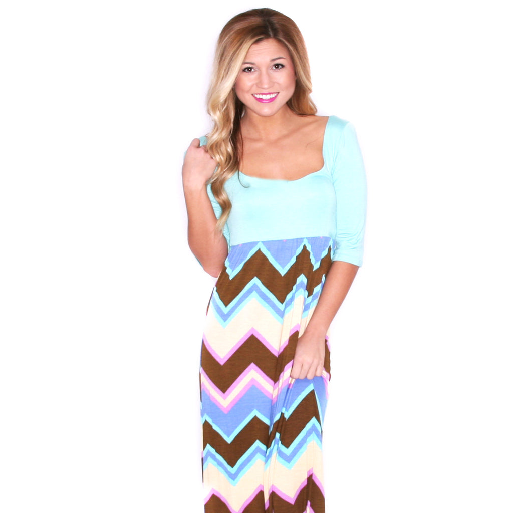 Southern Stripe Maxi Brown