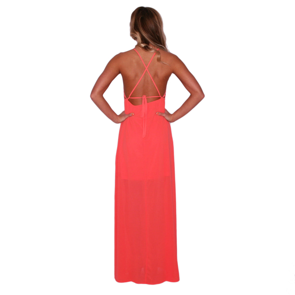 Southern Swank Maxi in Coral