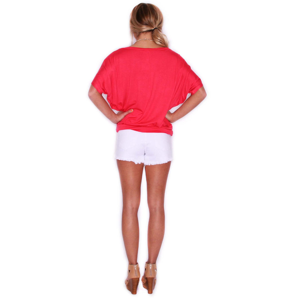 Southern Swank Tee in Dark Coral