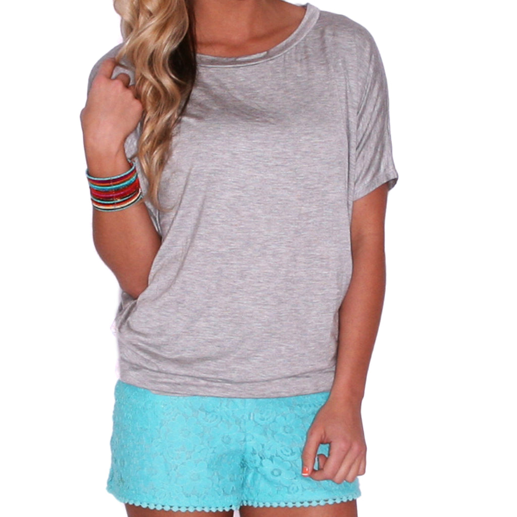 Southern Swank Tee in Heather Grey