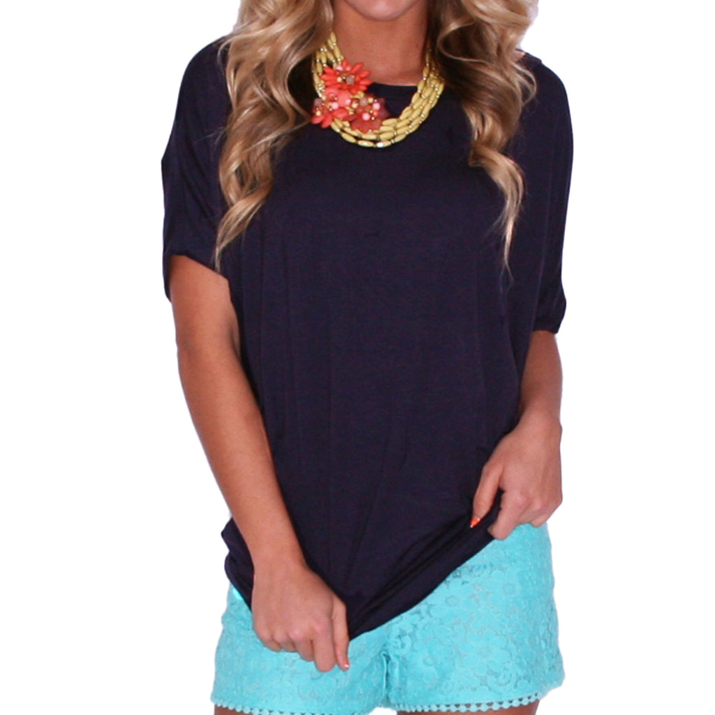 Southern Swank Tee in Navy