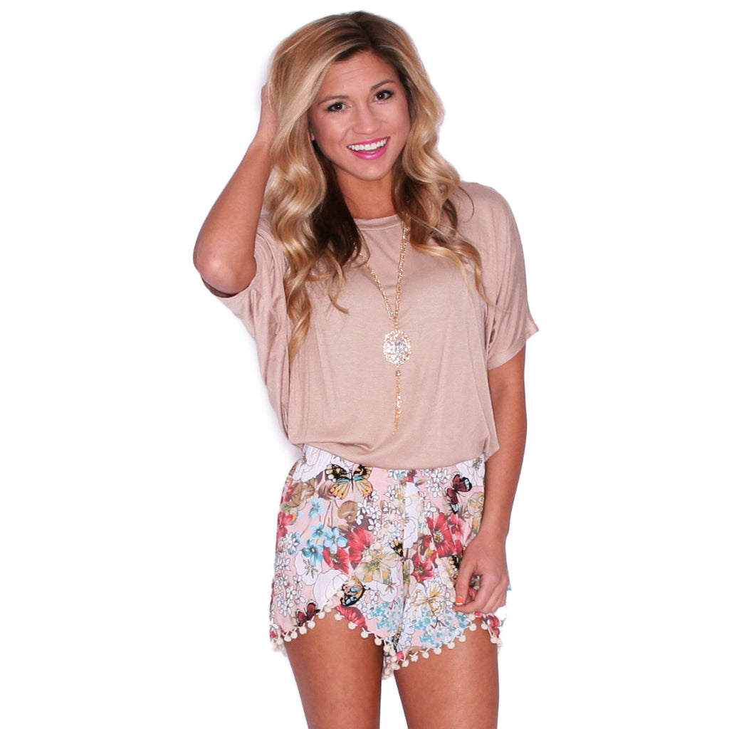 Southern Swank Tee in Taupe