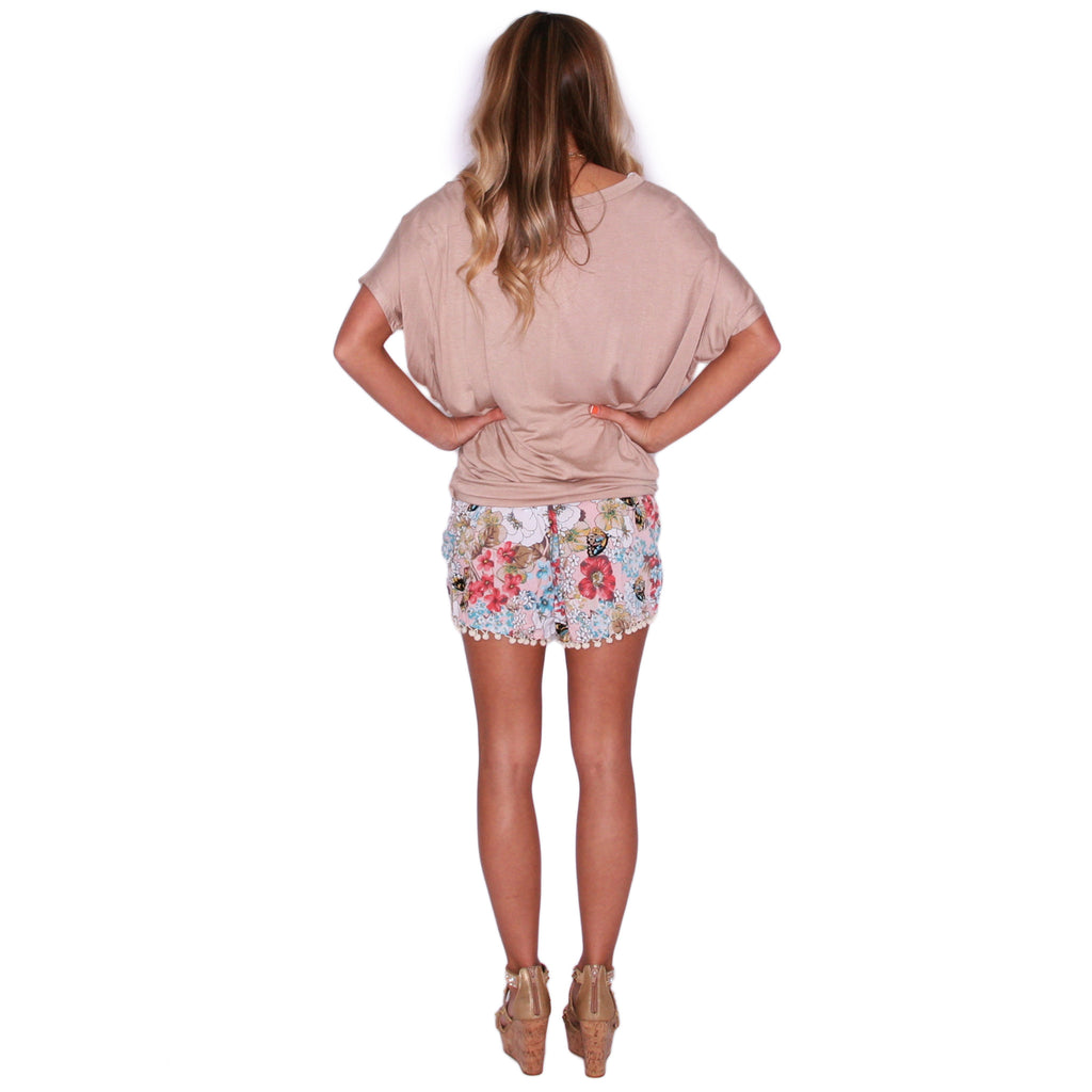 Living For The Weekend Shorts in Pink