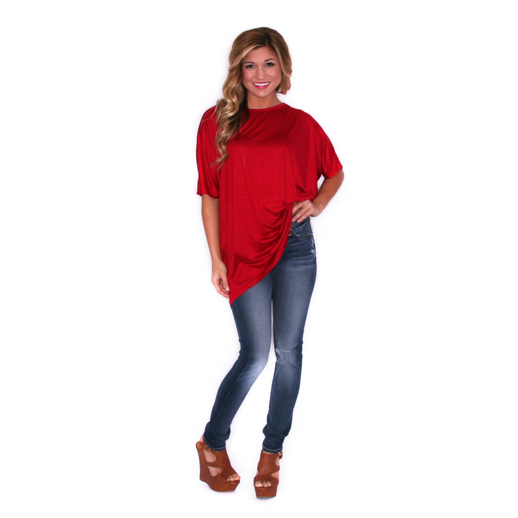 Spring Fling Tee in Red