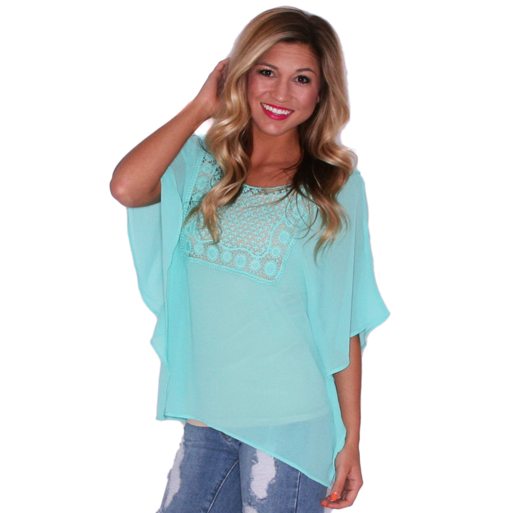 Spring Love Top in Mint