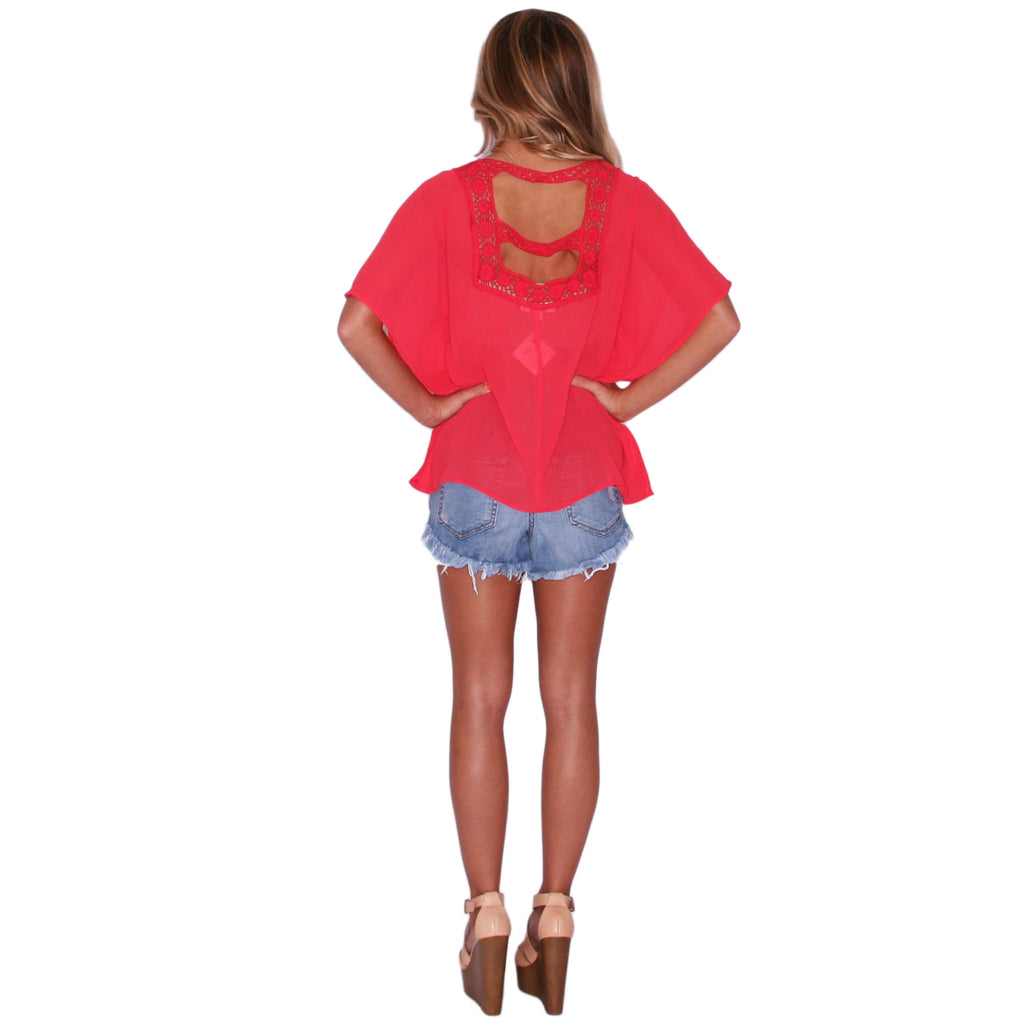 Spring Love Top in Tomato