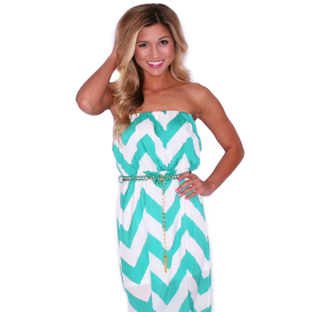Stargazing Stripe Maxi in Mint