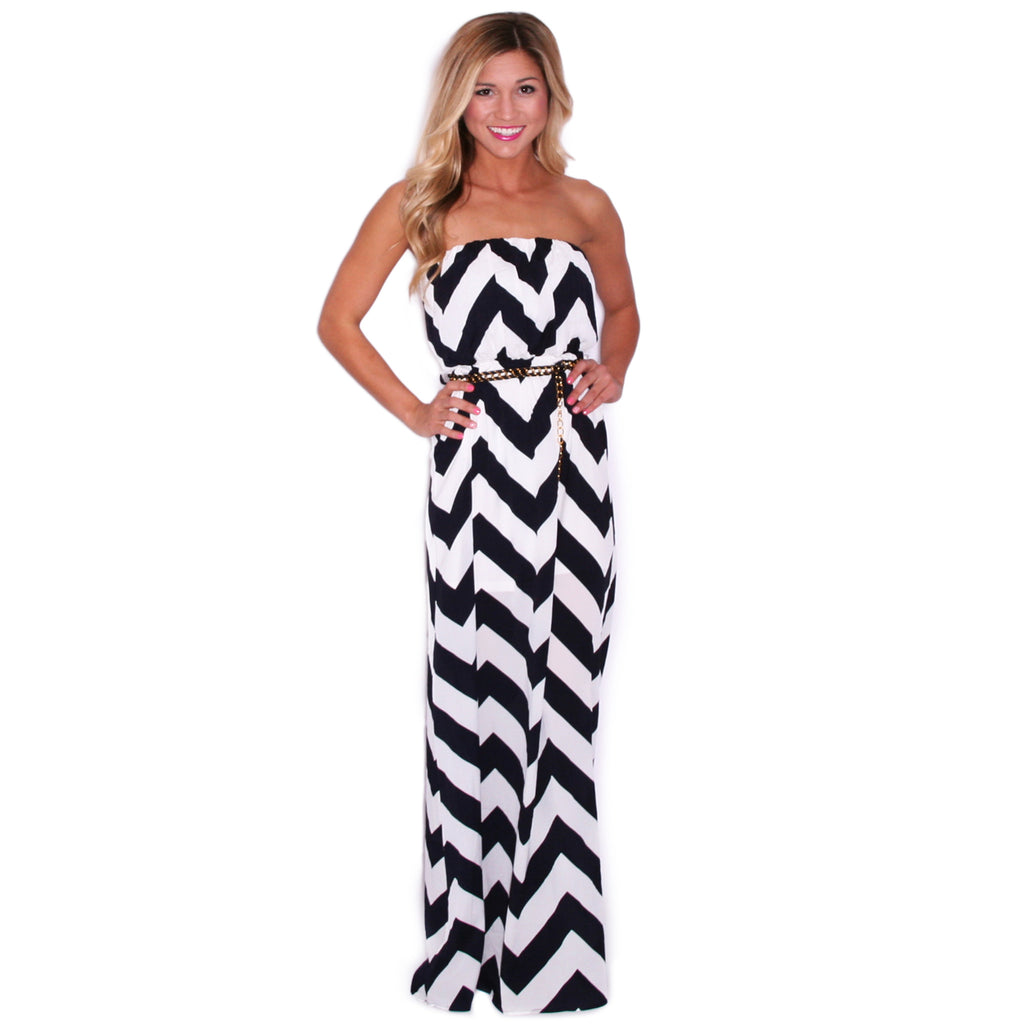 Stargazing Stripe Maxi in Navy