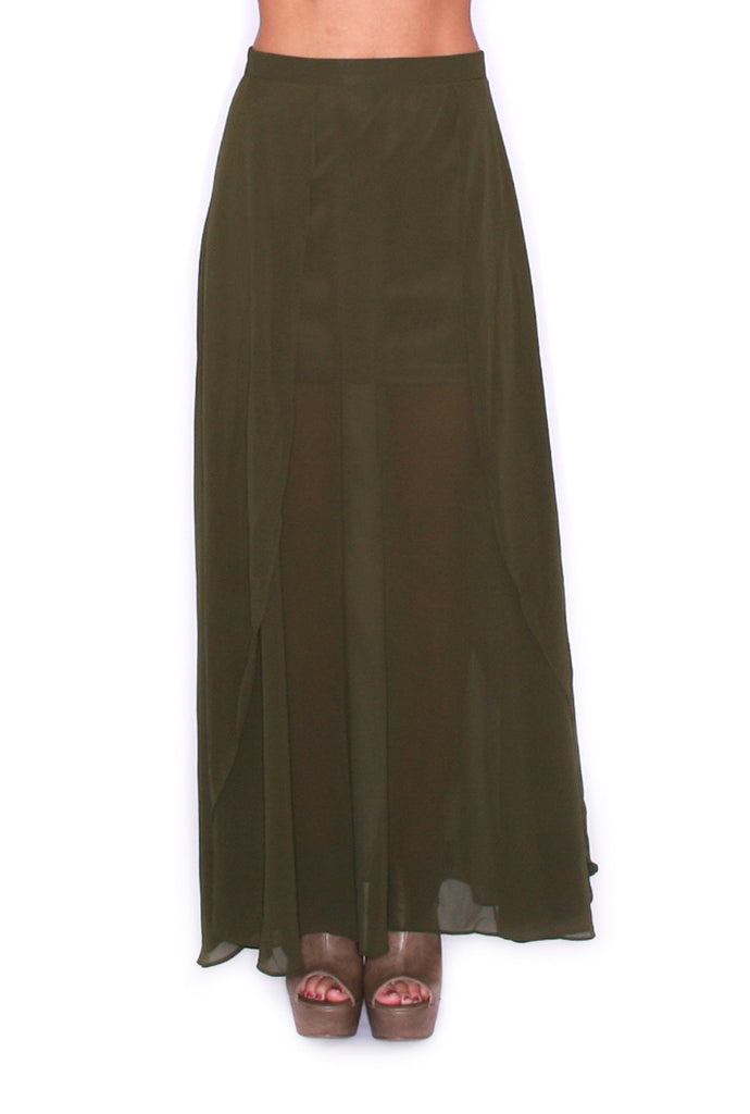 Statement Maker Olive Skirt