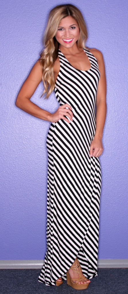 Striped Perfection Maxi Black